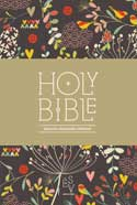 ESV Holy Bible Compact Edition Hearts & Flowers Brown Printed Cloth