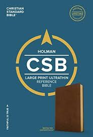 More information on CSB Christian Standard Bible Large Print Ultrathin Reference Tan Leathertouch